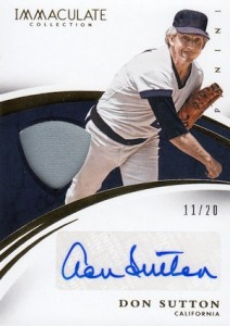 2015 Panini Immaculate Baseball Auto Materials