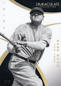 2015 Panini Immaculate Baseball Base Babe Ruth Holo Gold