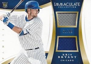 2015 Panini Immaculate Baseball Duals Kris Bryant