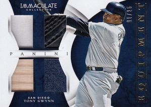 2015 Panini Immaculate Baseball Equipment