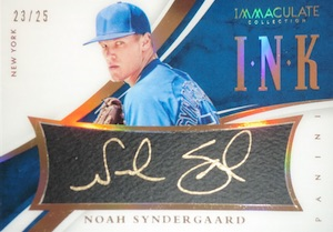 2015 Panini Immaculate Baseball Ink