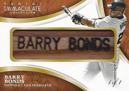 2015 Panini Immaculate Baseball Nameplate