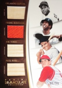 2015 Panini Immaculate Baseball Quad