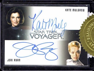 2015 Rittenhouse Star Trek Voyager Heroes and Villains Case Incentive Mulgrew Jeri Ryan Autograph