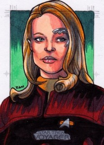 2015 Rittenhouse Star Trek Voyager Heroes and Villains Sketch