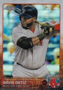 2015 Topps Chrome Baseball Base Refractor 124 David Ortiz