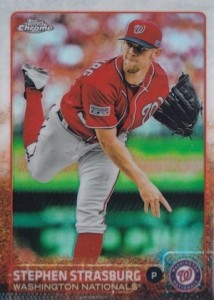 2015 Topps Chrome Baseball Base Strasburg