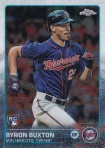 2015 Topps Chrome Baseball Byron Buxton RC SP Short Print