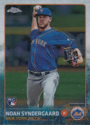 2015 Topps Chrome Baseball Noah Syndergaard RC SP Short Print