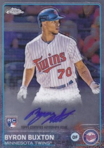 2015 Topps Chrome Baseball Rookie Autograph Buxton