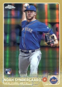 2015 Topps Chrome Baseball Rookie Short Print Gold Refractor Noah Syndergaard
