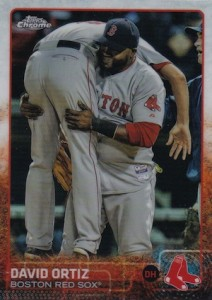 2015 Topps Chrome Baseball Variation 124 David Ortiz
