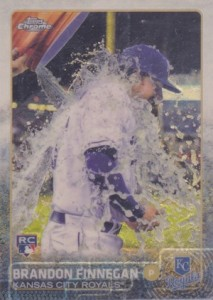 2015 Topps Chrome Baseball Variation 195 Brandon Finnegan Superfractor