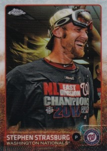 2015 Topps Chrome Baseball Variation Strasburg