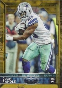 2015 Topps Football Base Joseph Randle gold parallel