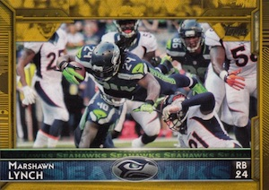 2015 Topps Football Base Marshawn Lynch Gold Parallel
