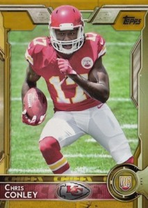2015 Topps Football Base RC Chris Conley Gold parallel