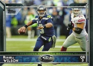 2015 Topps Football Base Russell Wilson
