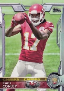 2015 Topps Football Chris Conley RC Variation
