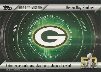2015 Topps Football Road to Victory Promo Redemption Details 1