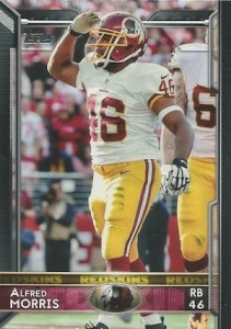 2015 Topps Football Variation Alfred Morris