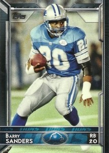 2015 Topps Football Variation Barry Sanders