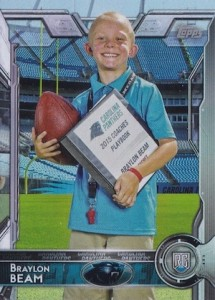 2015 Topps Football Variation Braylon Beam