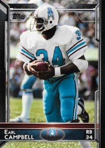 2015 Topps Football Variation Earl Campbell