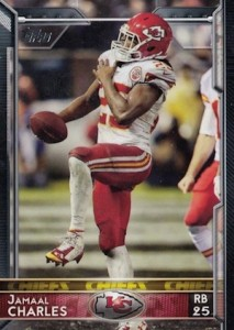 2015 Topps Football Variation Jamaal Charles