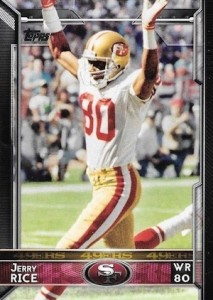 2015 Topps Football Variation Jerry Rice