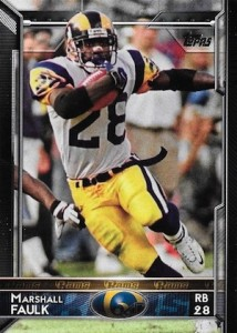 2015 Topps Football Variation Marshall Faulk