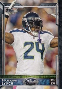 2015 Topps Football Variation Marshawn Lynch