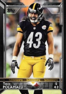 2015 Topps Football Variation Polamalu