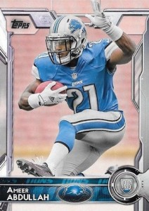 2015 Topps Football Variation RC Ameer Abdullah