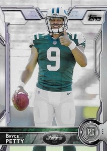 2015 Topps Football Variation RC Bryce Petty