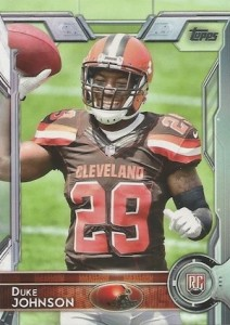 2015 Topps Football Variation RC Duke Johnson