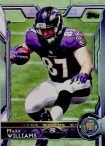 2015 Topps Football Variation RC Maxx Williams