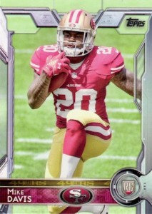 2015 Topps Football Variation RC Mike Davis