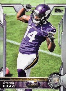 2015 Topps Football Variation RC Stefon Diggs