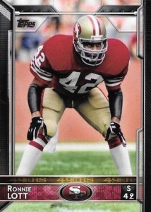 2015 Topps Football Variation Ronnie Lott
