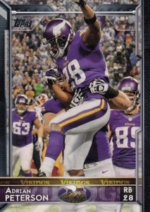 2015 Topps Football Variation Short Prints Adrian Peterson
