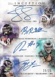 2015 Topps Inception Football Cards 26