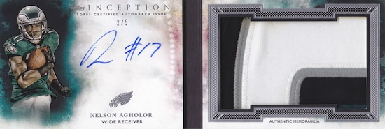 2015 Topps Inception Football Cards 24