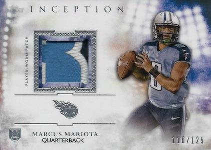 2015 Topps Inception Football Cards 27