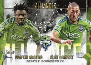 2015 Topps MLS Apex Alliances Sounders Dempsey Martins