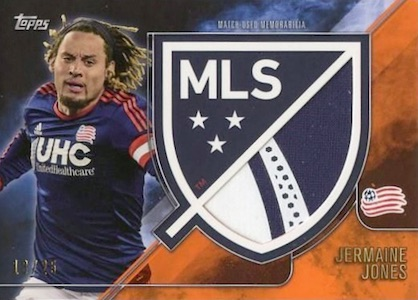 2015 Topps MLS Apex Crest Jumbo Relic Orange Jermaine Jones
