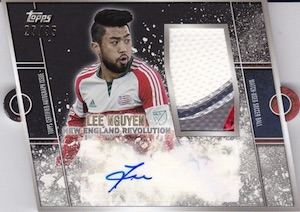 2015 Topps MLS Apex Match Day Die-Cut Autograph Relic