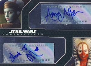 2015 Topps Star Wars Chrome Perspectives Jedi vs Sith Dual Autograph