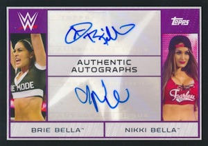 2015 Topps WWE Road to Wrestlemania Dual Autograph Bella