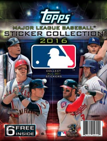 2016 Topps MLB Sticker Collection Baseball 3